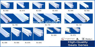 shower door water seal strip high quality rubber for the glass bunnings