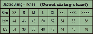 Gucci Jacket Size Chart Gucci Mens Jacket Size Chart Toffee Art