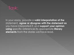 english oct ppt task in your essay provide a valid interpretation of the