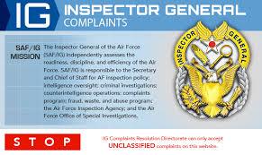 Air Force Recommendation Letter Sample Delectable Inspector General Complaints