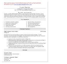 Resume Cv Cover Letter Flight Attendant Resume Sample Flight