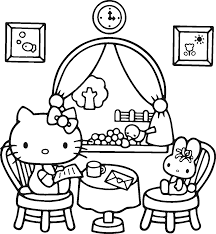 Hello Kitty Birthday Coloring Pages 39 With Hello Kitty Birthday