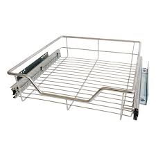 Drawers For Kitchen Cabinets 3 X 600mm Pull Out Chrome Wire Basket Drawers For Kitchen Cabinets