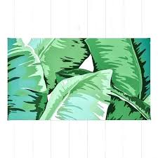 leaf shaped rug banana grandeur ii by worldwide
