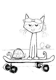 Pete The Cat Coloring Page And The Cat Coloring Page For Create