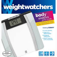 image for weight watchers glass ysis scale by conair from weight watchers