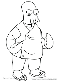 futurama coloring pages. Modren Pages Futurama Coloring Pages Drawing At Bender  To A