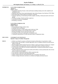 Facilities Coordinator Resume Samples Velvet Jobs