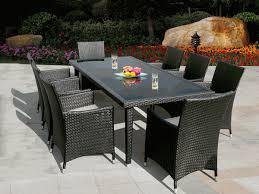 best full knit outdoor wicker dining table set full knit outdoor