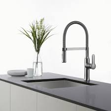 Professional Kitchen Faucet Kraus Khu23 Pax Stainless Steel Drop In Or Undermount Single Bowl