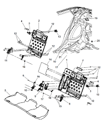 Dodge charger seat diagram
