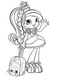 Shoppies Coloring Pages Vaikams Shopkin Coloring Pages Coloring