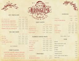 kringle s coffee gifts menu coffee s in lake arrowhead skypark at santa s village