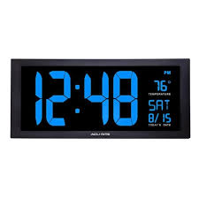 large led clock with indoor temperature