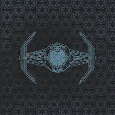 schematic tie fighter rug design