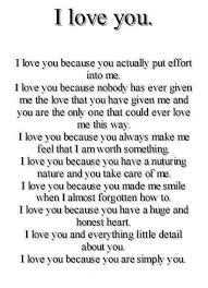 I Love You L Love You Because You Actually Put Effort Into Me L Love Impressive I Love You Because
