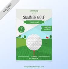 Golf Tournament Flyer Template Golf Tournament Flyer Vector Free Download