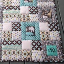 Stitch In The Ditch Puffy Baby Quilt With Just Three Blocks ... & thick loft batting for puffy quilts Adamdwight.com