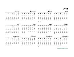Annual Calendar 2015 Best Photos Of 2014 Calendar Landscape Blank Printable