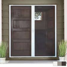 luminaire double retractable screen door