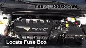 interior fuse box location 2007 2010 chrysler sebring 2008 2007 chrysler sebring 2.7 fuse box diagram locate interior fuse box and remove cover