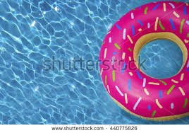 pool water with float.  Water Hipster Sprinkled Donut Float In Sunny Pool Background Straight Down On  Bright Clear Water For Pool Water With Float