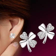 Equalistic Women's Adorable Lucky <b>Clover Shape Earrings</b> Cute ...
