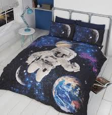 rapport home duvet cover set with glow in the dark stars spaceman astronaut