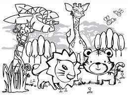 animals coloring sheet