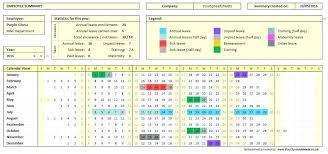 Attendence Tracker Employee Student Attendance Tracker Spreadsheet Absence