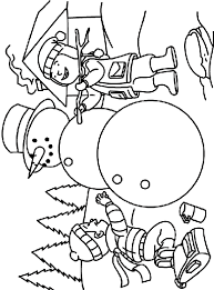 Small Picture Making a Snowman Coloring Page crayolacom
