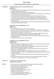 Sales Representative Resume Marketing Sales Representative Resume Samples Velvet Jobs 81