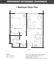 Simple 1 Bedroom Apartment Floor Plans Placement New In