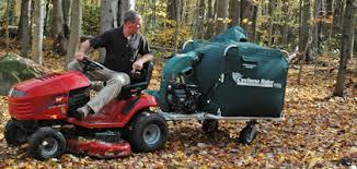 riding mower leaf vacuum. Exellent Riding Never Jackknifes Throughout Riding Mower Leaf Vacuum