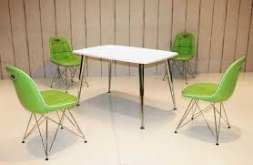 Tischgruppe Im Stil Der Fünfziger Jahre Esstisch Eckig Weißchrom