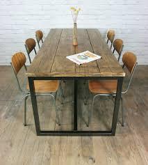 vine industrial steel rustic factory loft farm dining table ebay