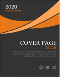 Cover Page For Portfolio Portfolio Cover Page Templates For Ms Word Ms Word Cover