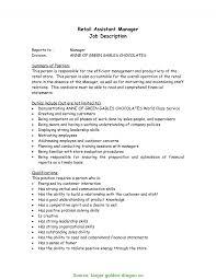 Store Manager Job Description Resume For Ves Rs Geer Books