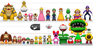 Mario Size Chart Comic Mischief
