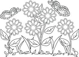 Printable Coloring Pages Of Flowers And Butterflies Free Printable Coloring Pages Of Flowers Liknes Co