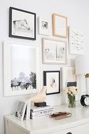 picture frames on wall. If You\u0027re Using Pictures With Muted Colors In Your Gallery Wall, Try Contrasting Them Bold Black And Brown Frames. Picture Frames On Wall