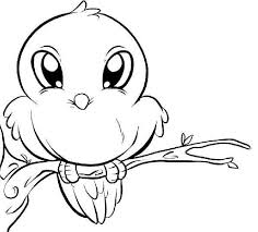 Small Picture Cute bird coloring pages perching ColoringStar