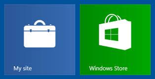 web site tile in windows 8 desktop