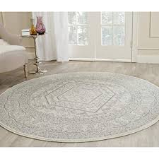 Round dining room rug Foot Safavieh Adirondack Collection Adr108b Ivory And Silver Oriental Vintage Medallion Round Area Rug 8 8barsinfo Foot Round Dining Room Rugs Amazoncom