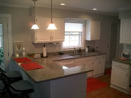 White Kitchen With Red Accents New Caledonia Granite Top Love The Gray And Red Accents Kitchen