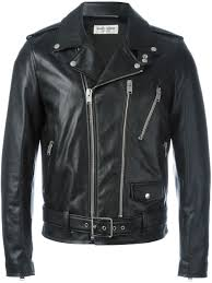 saint lau leather biker jacket men clothing yves saint lau foundation yves saint lau