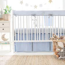 blue and grey crib bedding nantucket