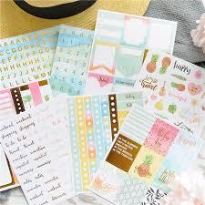 lovedoki summer foil gold sticker alphabet words date notebook decorative stickers planner accessories sbook diy stationery