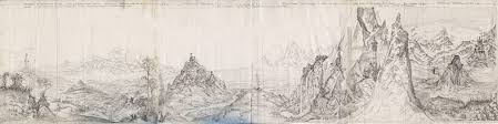 original pencil drawing of roger garland s tolkien landscape painting which became the book cover for