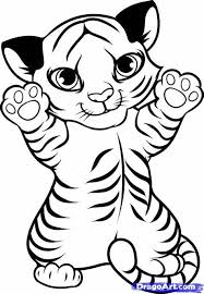 baby white tigers drawing. Exellent White Cute Easy Drawings Of Tigers Fashionplaceface On Baby White Drawing N